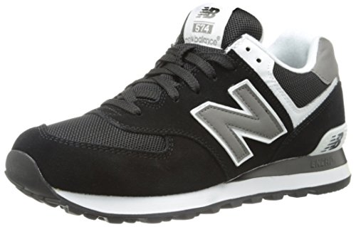 New Balance M574SKW, Herren Sneaker, schwarz, (Black/white SKW), EU 42.5, (US 9), (UK 8.5)