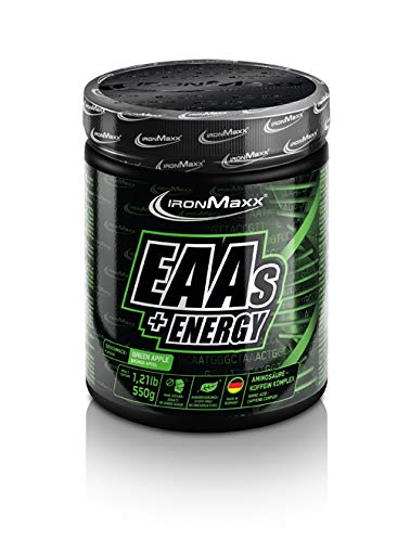 Energie-greens (IronMaxx Eaas + Energy, Green Apple, 550 g)