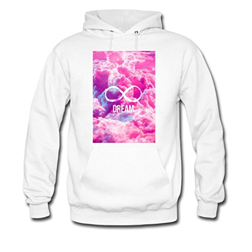 HKdiy Infinity dream Custom Men's Printed Hoodie White-2