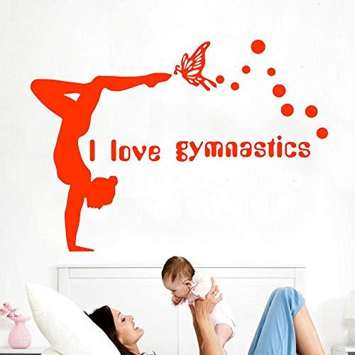 lyclff Baum Wandtattoos Kunst Turner Decal Yoga Aufkleber Decal Gym Home Decor Art personalisierte Aufkleber abnehmbare Dekor ~ 1 84 * 104cm