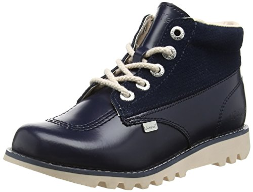 KickersKick Hi Side, Leather Dk Blue - Stivaletti donna , blu (Blue (Dark Blue)), 35.5