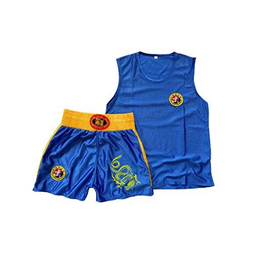 Aiweijia Kinder Sanda Kleidung Jungen & Mädchen Erwachsene Boxen Set Boxing Shorts Muay Thai Kleidung Kampfsporttraining Tragen Sportbekleidung