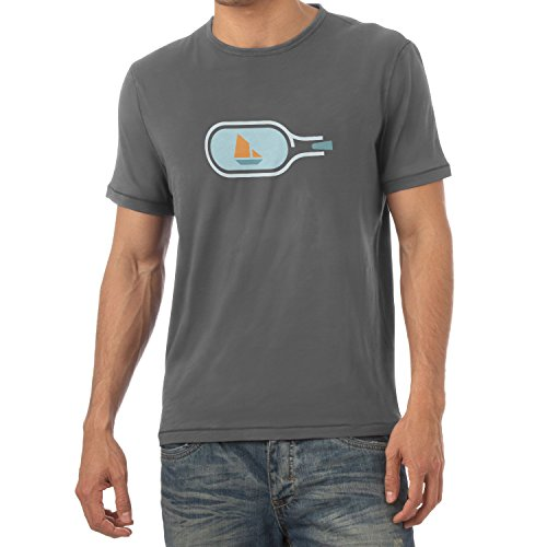 NERDO - Bottled Ship - Herren T-Shirt Grau