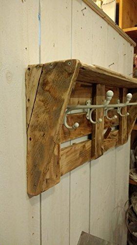 Garderobe Aus Altem Holz Mit Weissen Haken Upcycling Shabby