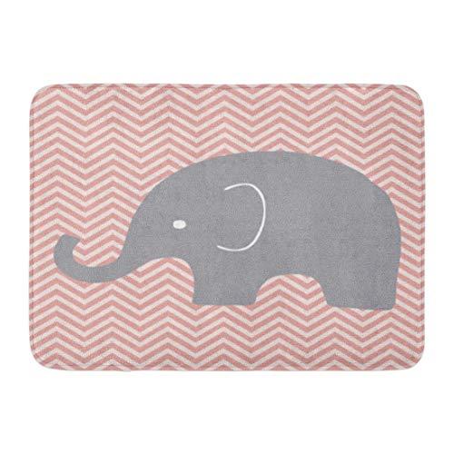 Bad Teppiche Outdoor/Indoor Fußmatte Baby Kinderzimmer Elefant Zimmer Wand Chevron Kinder Muster Badezimmer Dekor Teppich Badematte ()