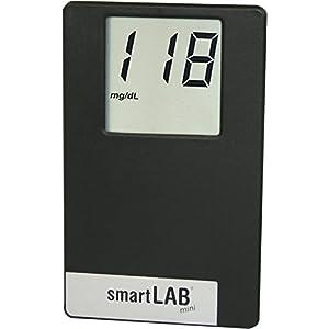 smartLAB mini Blutzuckermessgerät mg/dL Starterset | Blutzuckermesssystem im Scheckkartenformat ideal für Unterwegs |Blutzuckermessen für Diabetiker mit smartLAB