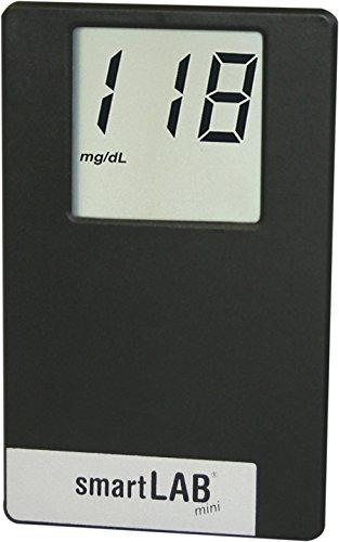 smartLAB mini (mg / dL) Sistema de monitoreo de glucosa en sangre como juego de arranque | Sistema de control de glucosa en la sangre en formato...