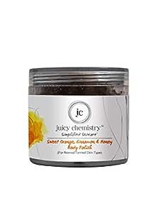 Juicy Chemistry Organic Sweet Orange- Cinnamon & Honey Body Polish(75gm)