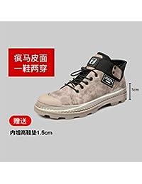 Leder Koreanische Version Von Home Männer Flut Neue Plus Samt Warme Baumwolle Schuhe In Die Hohe Zu Helfen Wüste Werkzeug Stiefel