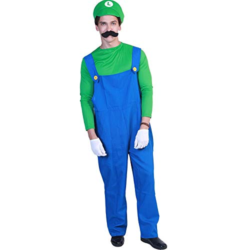 YouN Super Mario Rolle Cosplay Kostüm Set Männer Halloween führen Kleidung - Super Mario Dress Up Kostüm