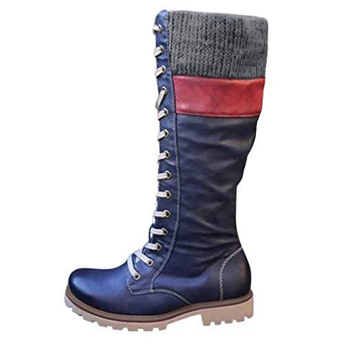 Botas para Mujer Botines Altas Vintage Zapatos Largos hasta Las...
