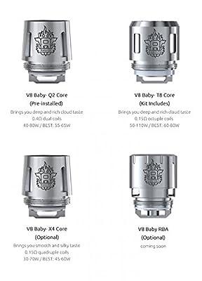 Original SMOK Baby TFV8 (V8 - Baby Q2) Verdampfer 0.4 OHM PACK of 5 von SMOK