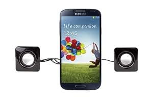 DURAGADGET Mini haut-parleurs / enceintes USB pour téléphone Samsung Galaxy S2, S3, S4, Note 1, 2 et 3, Galaxy Ace et S3 & S4 Mini