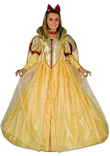 Fiori paolo- biancaneve principessa costume carnevale atelier per bambini, giallo/oro/rosso, 3-4 anni, 26298.3-4