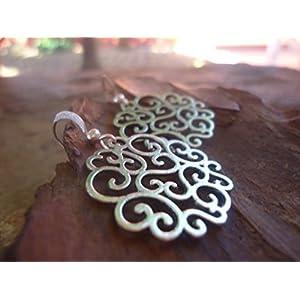 ✿ SILBER ORNAMENTE ✿ verzierte Ohrringe