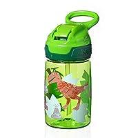Nuby Tritan Sippy Cup, Incredible Gulp Active Toddler Cup, 360 ml, Green Dinosaur