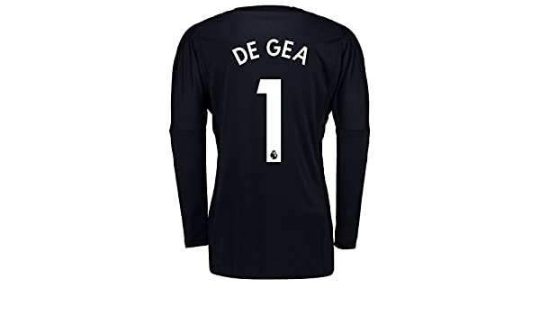 20b40e26304 Manchester United Home Goalkeeper Shirt 2017-18 - Kids with De Gea 1  printing - 9-10 Years  Amazon.co.uk  Clothing