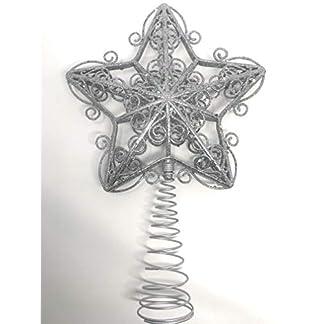 You Love a Bargain Decoración para árbol de Navidad, diseño de Estrella con Texto en inglés, Color Plateado