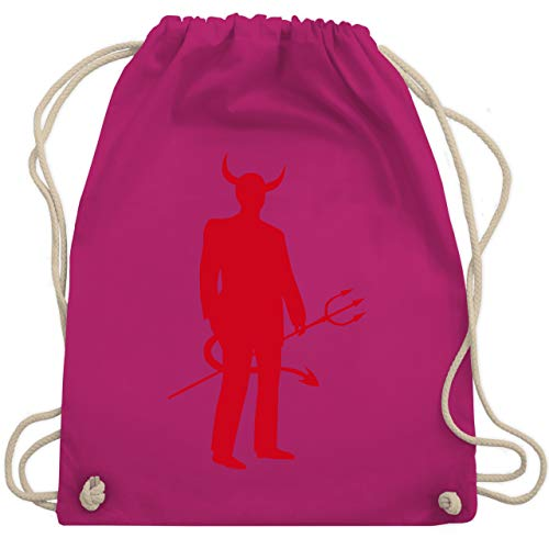 Halloween - Teufel - Unisize - Fuchsia - WM110 - Turnbeutel & Gym Bag