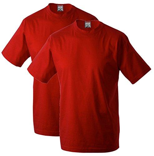 Adamo Marlon T-Shirt im Doppelpack XXL-56 bis 10XL-86/88 schwarz, weiß, blau, rot, hellgrau Rot