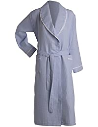 Slenderella Ladies Lightweight Waffle Robe Lace Trim Shawl Collar Hotel Spa Dressing  Gown (5 Colours 7b64a054d