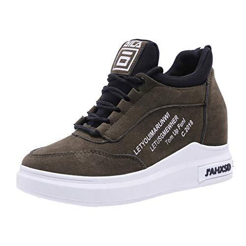 c22d9fae0148a6 Lazzboy Damen Keilabsatz Sneakers Turnschuh Wedges Winterschuhe (Grün