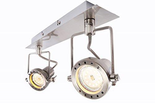 LED Deckenleuchte Lampe Strahler Wandleuchte Wandlampe Deckenlampe Wandstrahler Deckenstrahler (2 Flammig)