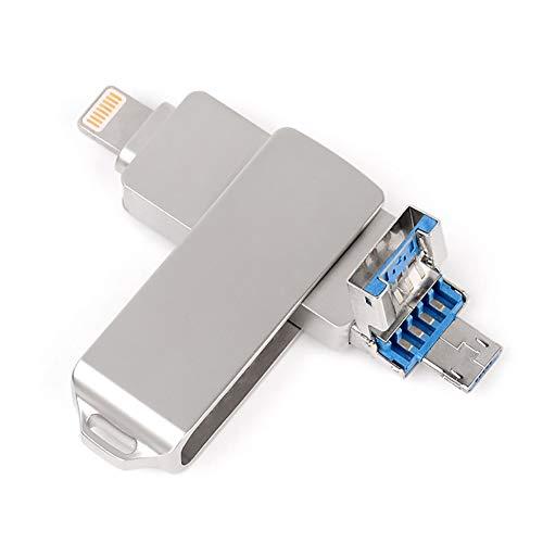 Su disco rigido esterno drive flash drive 8g-64g per pc/iphone / espansione memoria telefono android usb3.0 plug and play metal,silver,32gb