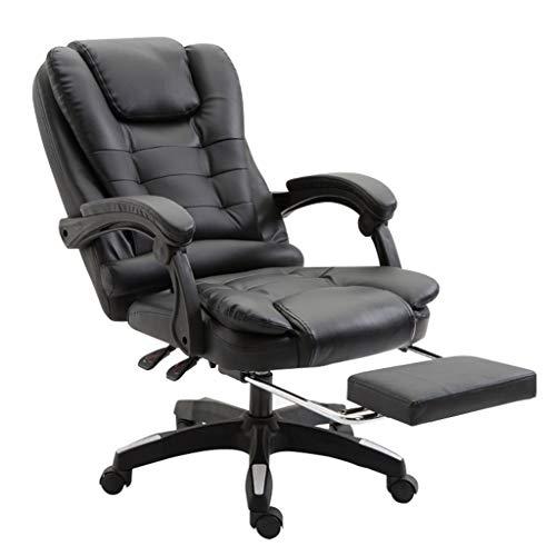 Chaises de réception Siège Noir siège de Bureau chaises de Patron Fauteuil d'ordinateur pour accoudoirs dortoir pour étudiants Fauteuil en Cuir Noir Fauteuil de Salle d'étude (100% Cuir de Vachette)