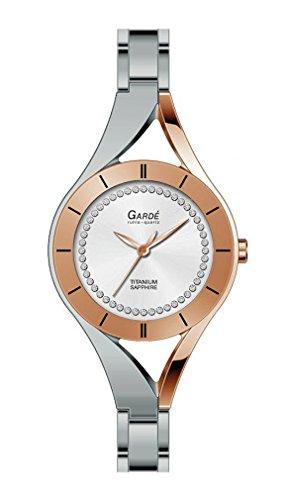 Gardé Ruhla Uhren Damen Titan Armbanduhr Modell Elegance 26111 mit Saphirglas