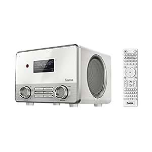 Hama Internetradio IR111 (WLAN/LAN, Fernbedienung, USB-Anschluss, Weckfunktion, gratis Radio App) weiß