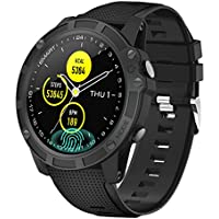 【Latest Model】Antimi Smart Watches,Bluetooth Smart Watch Fitness Tracker Activity Trackers Smartwatch With Pedometer Heart Rate Monitor Blood Oxygen Pressure IP68 Waterproof Sleep For iOS Android