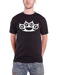 Five Finger Death Punch T Shirt Knuckles FFDP band logo Official Mens Black