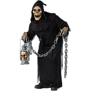 Ghul Gevatter Tod Sensenmann Halloween Fasching Karneval Herrnkostüm Verkleidung