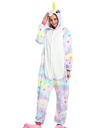 VineCrown Unicornio Pijama Animal Disfraces Traje Adultos Ropa de dorm