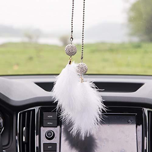 Preisvergleich Produktbild Auto Anhänger Diamant Kristallkugel mit automatischen Stift Dekoration Charme Auto Innenspiegel Rückansicht Schmuck Anhänger Geschenk