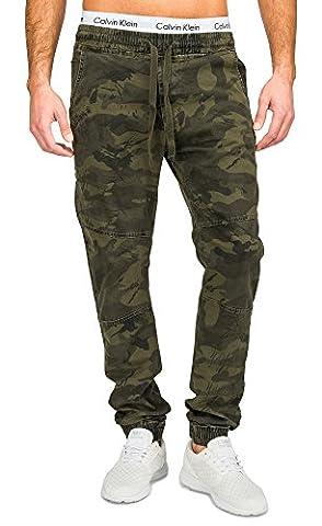 Pantalon Hommes Camouflage YSW Cinq Pocket Slim Nr.1681, Farben:Vert;Größe-Hosen:L