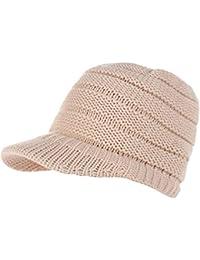 AIEOE® Femme Bonnet Queue Messy Chignon Chapeaux Bonnet Hiver Bonnet Queue  De Cheval Casquette de dfceb2cb1eb