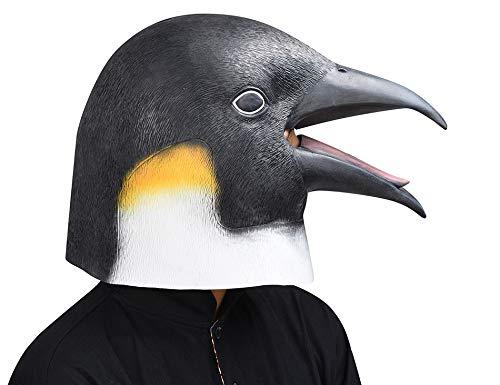 Zorux – Look Up The Pinguin Kopfmasken für Erwachsene, realistische Tiere, Latex, Halloween, Cosplay, Requisiten, Party, Kostüm, ()