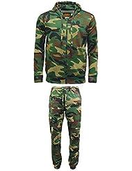 Hommes de jeu en polaire Motif camouflage Sweat à capuche zippé pour homme pour jogging Bas Camping Chasse Pêche