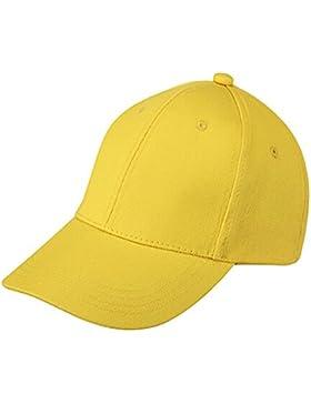 SODIAL(R) Giallo Estate Bambini Plain dei ragazzi delle ragazze del cappello dei bambini Junior berretto da baseball