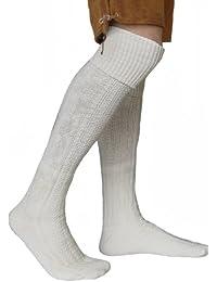 EXTRA Lange Trachtensocken Strümpfe Trachtenlederhose Socken aus Wolle Natur 75cm