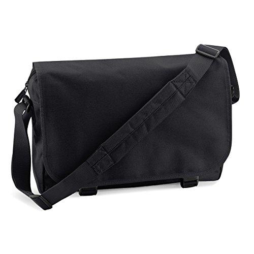 BagBase Unisex Messenger Bag Umhangetasche 38x30x12cm 11L Freizeit black