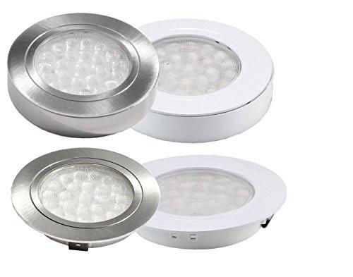 Flache 12V LED Möbel Schrank Einbauleuchte Aufbauleuchte SET (1-5)
