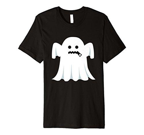 Reißverschluss Kostüm Mund - Ghost Emoji T-Shirt Reißverschluss Mund Halloween-Kostüm Geschenk