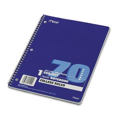 Spiralbindung Notebook, College Rule, 8x 10-1/2, 1Thema 70Blatt/Pad [Set von 4]