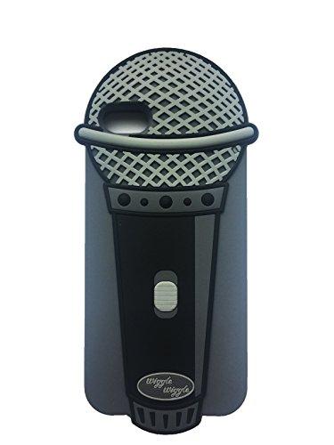 Mic Microphone MC rappeur musicien Musique chanteur Hip Hop la forme 3D en caoutchouc souple en silicone gel Housse étui Tpu peau retour pour iPhone 6, 6s © Sloth Cases