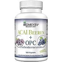 BIOMENTA ACAI BEEREN + OPC-Traubenkernextrakt | 30.000 mg ACAI Extrakt + 150 mg OPC-Traubenkernextrakt | 160 Acai... preisvergleich bei billige-tabletten.eu