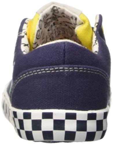Geox B Kiwi Boy A, premiers pas chaussures bébé garçon multicolore (Multicolor (Navy / Yellow))
