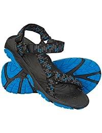 Mountain Warehouse Sandalias Tide para niños - Forro de Neopreno, Zapatos para niños con Suela de Goma 100%, Chanclas con Cierres de Gancho y Bucle - para Caminar en Verano Negro Jet 35